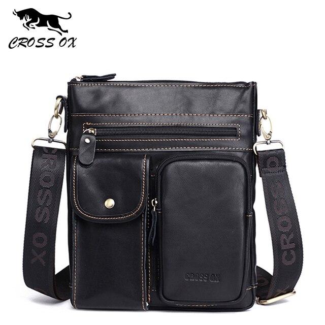 Кожаная сумка CROSSOX в классическом стиле SL424