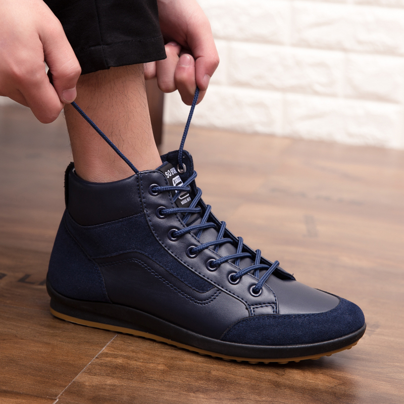 Gentleman Big Size 46 Autumn Winter Warm Cotton Men Leather Boots Fashion Ankle Lace Up Shoes Footwear Casual New 2018 Xx-508-4 To Reduce Body Weight And Prolong Life Back To Search Resultsshoes