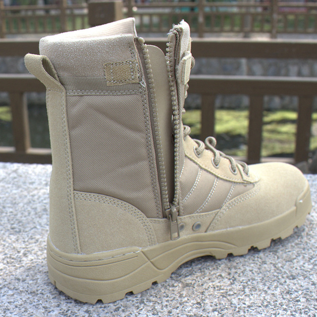 Men desert military tactical boots male Outdoor waterproof hiking shoes sneakers for women non-slip wear sports climbing shoes 4