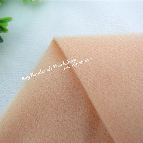 Halben Meter Khaki Puppe Haut Fleece Stoff Tissue Einfarbige Plüsch Tuch für Nähen Patchwork Quilten Flesh Tissue150 * 50 cm