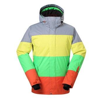 GSOU SNOW men's snow Polyester wear men's single snowboard outdoor sport waterproof warm windproof climbing skiing jacket