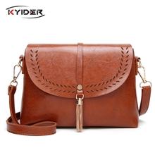 KYIDER New Vintage Crossbody Bags High Quality PU Leather Shoulder Bag Tassel Women Messenger Small Ladies Purse