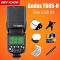 Godox TT685N 2.4G HSS 1/8000s i-TTL GN60 Wireless Speedlite Flash for Nikon for D800 D700 D7100 D7000 D5200  D5000  D810 +6 Gift