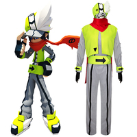 Anime Aotu World cosplay Camil cos Halloween daily Unisex set costumes top+pants+vest+hat+scarf+belt+gloves+Wrist+ears