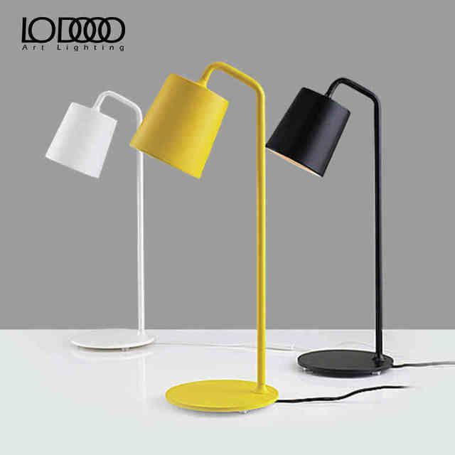 LODOOO E14 Modern Table Lamp For Living Room Contemporary Desk Lamp ...