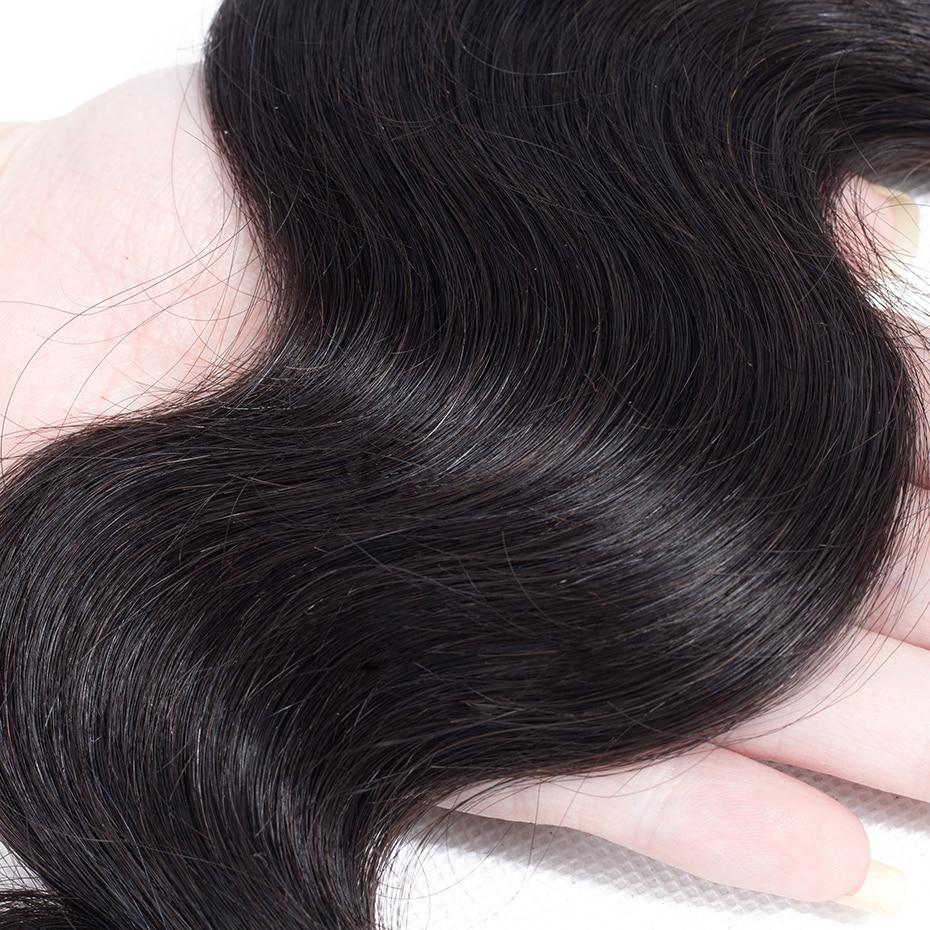 037  Gabrielle Hair Brazilian Physique Wave Hair Three Bundles with Closure Pure Coloration 100% Non-remy Human Hair Weave Bundles With Closure HTB1boKTeAUmBKNjSZFOq6yb2XXaZ
