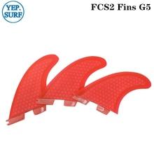 Surfboard FCS2 G5  Red Honeycomb Fins Tri fin set fcs Fibreglass