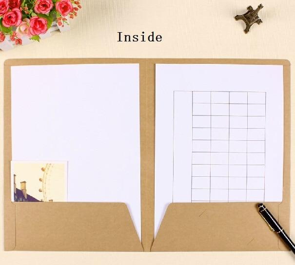1pcs/lot 310*235mm/Vintage Blank Kraft Paper Double Design A4 Paper File Bag/DIY Multifunction Bag/envelope