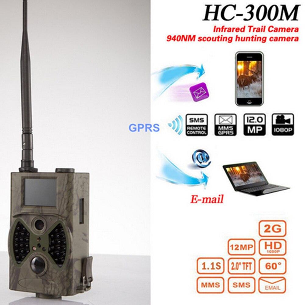 12MP Email MMS GSM 1080 P pièges de chasse à Vision nocturne HC300M caméra de chasse sauvage caméra de piste caméra de faune