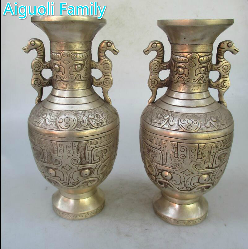 Collectible 1 Pair Of Chinese Mingqing Dynasty Decorated Old