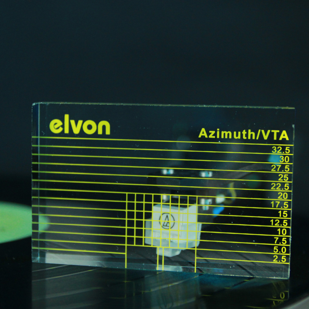 1 pcs Elvon LP Vinyle Tourne-disque Lecture IDV/Cartouche Azimut Règle