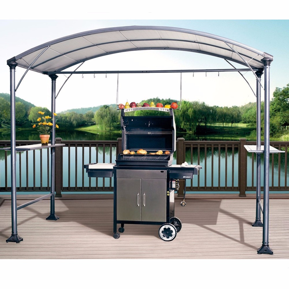 metal inspiration ideas home decor gallery awning patio bbq for from reisa gazebo canopy by