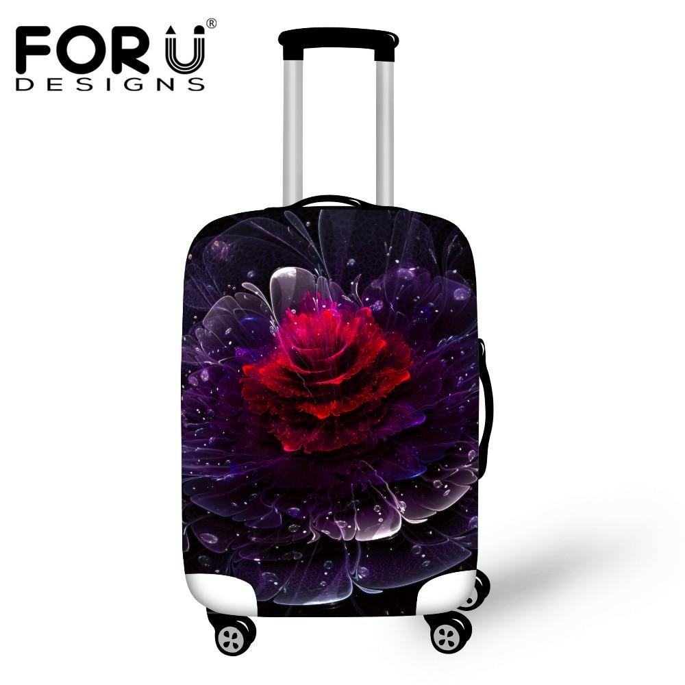 Forudesigns/уникальный цветок печати Чемодан Защитная крышка с Ziper для 18-30 дюймов Багажник Случае Водонепроницаемый Туристические товары