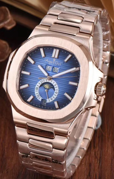 Luxury Brand New Automatic Mechanical Men Watch Sapphire Transparent Glass MoonPhase Watches Rose Gold Black Blue Rubber CoffeeLuxury Brand New Automatic Mechanical Men Watch Sapphire Transparent Glass MoonPhase Watches Rose Gold Black Blue Rubber Coffee