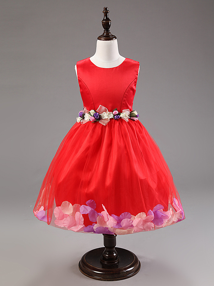 ФОТО Girls Ball Gown Children Dresses Festa Evening Party Dress Kids Princess Prom Dress Flower Girls Dresses For Wedding