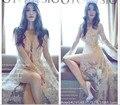 New Royal Беременных Женщин Фотография Мода Реквизит Длинные Кружева Dress Королева Романтический Стиль Бежевый Цвет Фотосессии Рубашки Платье