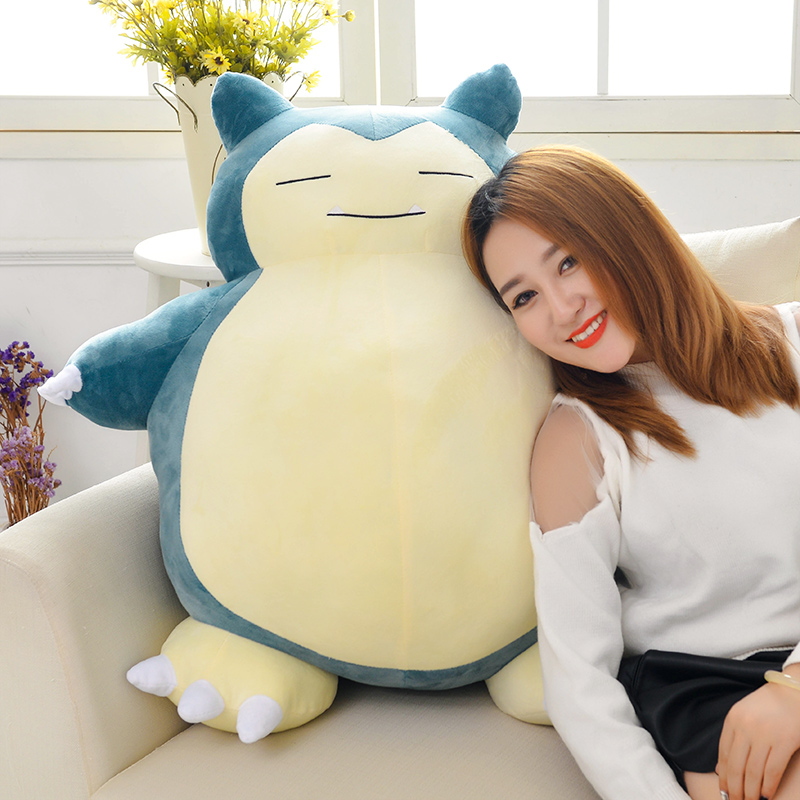 stuffed plush toy movie cartoon figure large 80cm snorlax doll soft throw pillow Christmas gift b0996 large 90cm cartoon pink prone pig plush toy very soft doll throw pillow birthday gift b2097