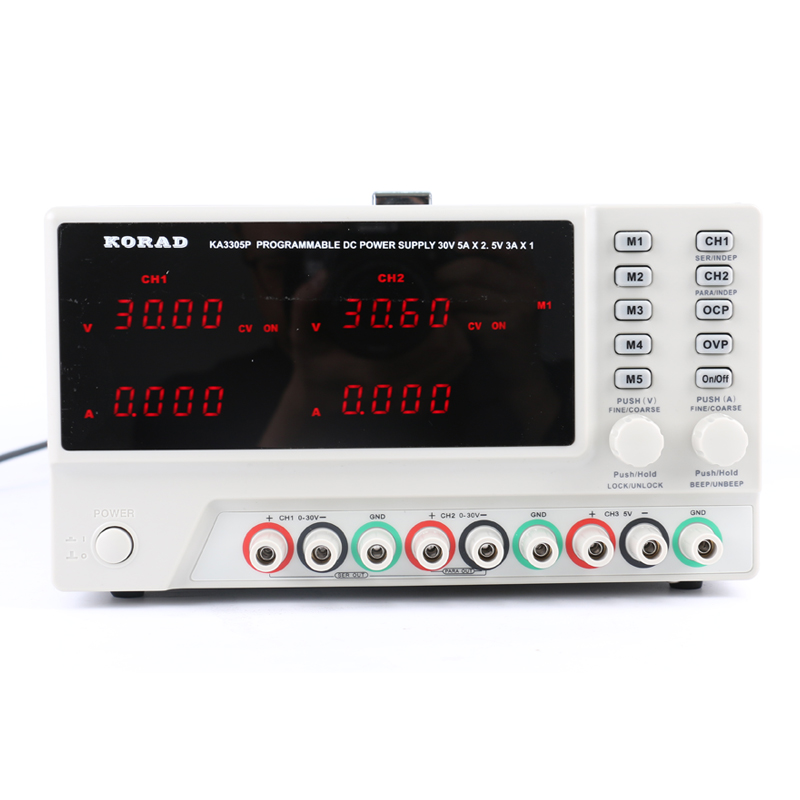 KA3305P Adjustable Digital Low Noise 30V 5A Programmable DC Power Supply 10 mV / 1 mA High Accuracy USB RS232 Interfaces cps 6011 60v 11a digital adjustable dc power supply laboratory power supply cps6011