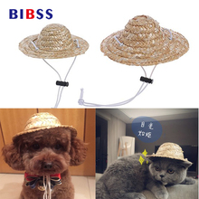 a70b6d50c4d Cat Dog Pet Straw Hat Cute Costume Hat For French Bulldog small Dog Funny  Costume(