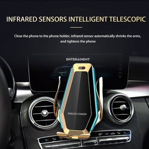 Image 4 - Tongdaytech 10 واط سيارة سريع تشى شاحن لاسلكي آيفون X 8 XS 11 برو ماكس سيارة الهاتف تنفيس الهواء حامل لسامسونج S10 S9 S8 زائد
