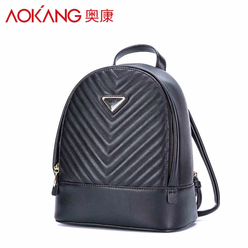 AOKANG 2017 New Women s Fashion Backpacks School Bags for Teenagers leather candy color Backpack bags