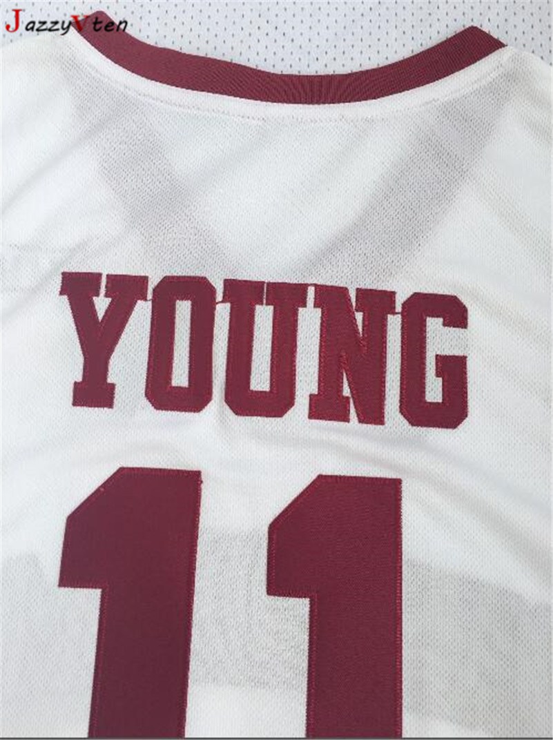 069d52daf16f JazzyVten 2018 New Trae Young Oklahoma Sooners College Throwback Basketball  Jersey Stitched Buddy Hield  24 Jerseys shirts -in Basketball Jerseys from  ...