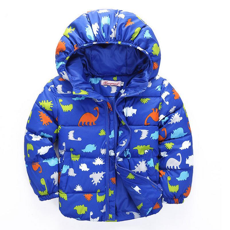 цена на 2017 Hot Sale Boys Winter Jacket Fashion Kids Hooded Winter Coat Thick Children Down Parkas High Quality Outwear For Boys