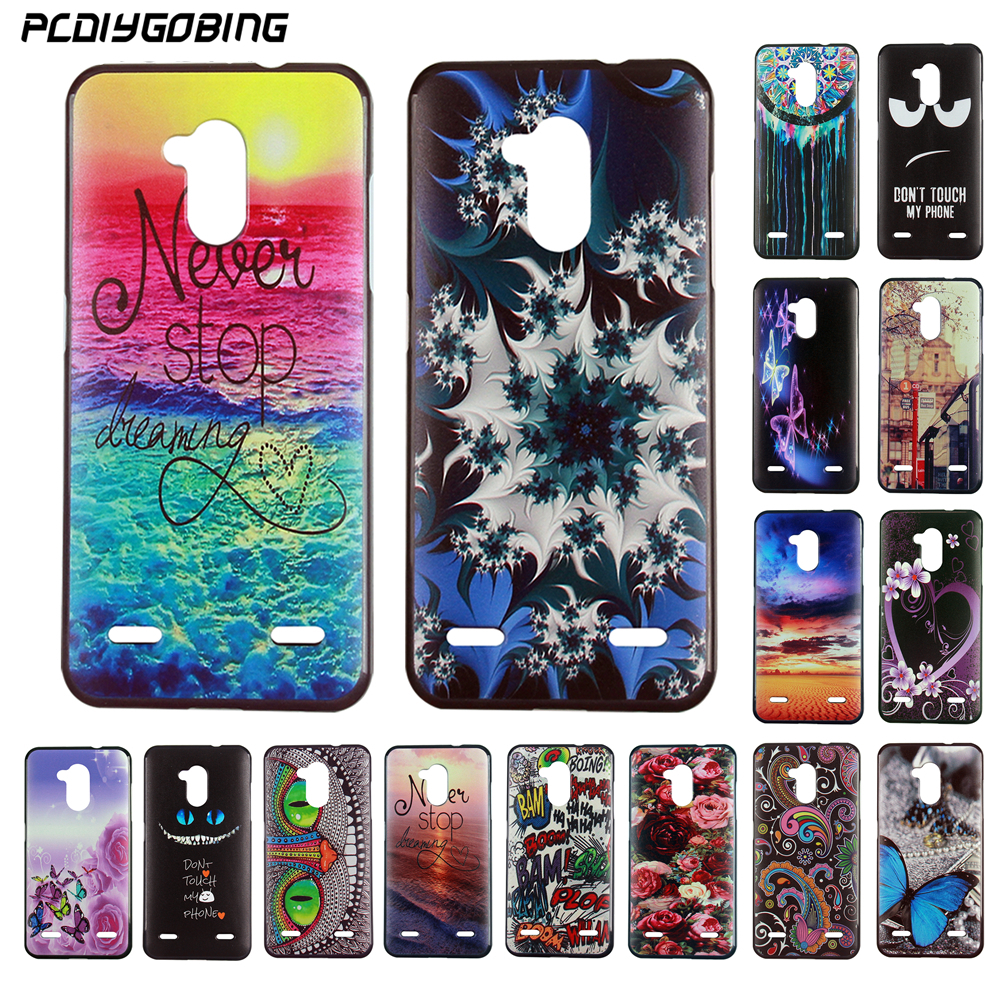 Luxury Color Painting Fundas Capa Cover Cool Gel Soft TPU Silicone Phone Case Cover Celular For ZTE Blade V7 Lite ZTE V7 Lite