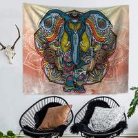 WARM TOUR Elephant Bohemian Tapestry Decorative Mandala Tapestry Indian Boho Hippie Wall Carpet Home Decor Blanket Tablecloth