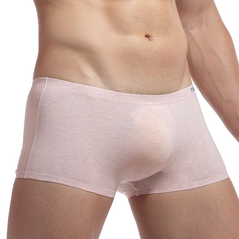 Shorts Men Panties Boxer-Pouch Trunks Homewear Comfortable Modal Low-Waist Male Cotton