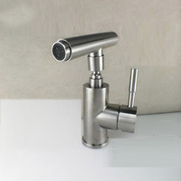 JMKWS 304 Stainless Steel Basin Bathroom Faucets Alien Desgin Washbasin Faucet Deck Mounted Basin Mixer Tap