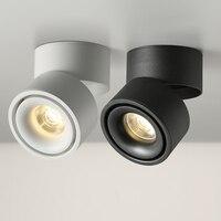 LED Decke Leuchtet Einzigen Aluminium Luminaria 12W led decke licht einstellbar spot LED lampe dekorationen für haus Beleuchtung-in Deckenleuchten aus Licht & Beleuchtung bei