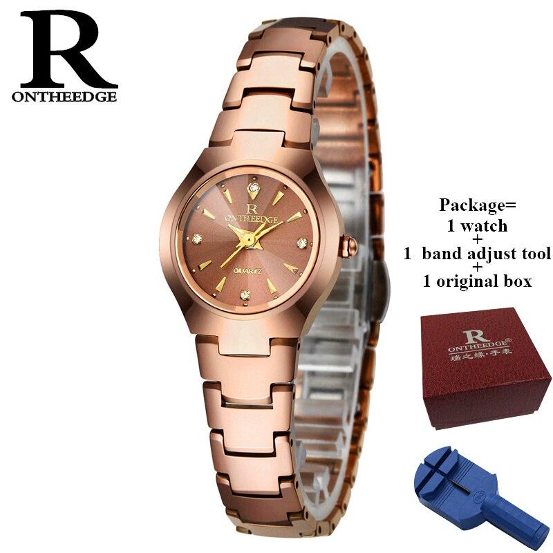 RONTHEEDGE femmes montre marque élégante célèbre de luxe en or Rose montres à Quartz dames en acier Antique montres de genève Relogio