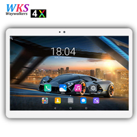 Gratis verzending 10 inch 3G/4G LTE Android 7.0 tablet pc 10 core 4 GB RAM 64 GB ROM wifi Bluetooth GPS 1920*1200 HD IPS Smart tabletten