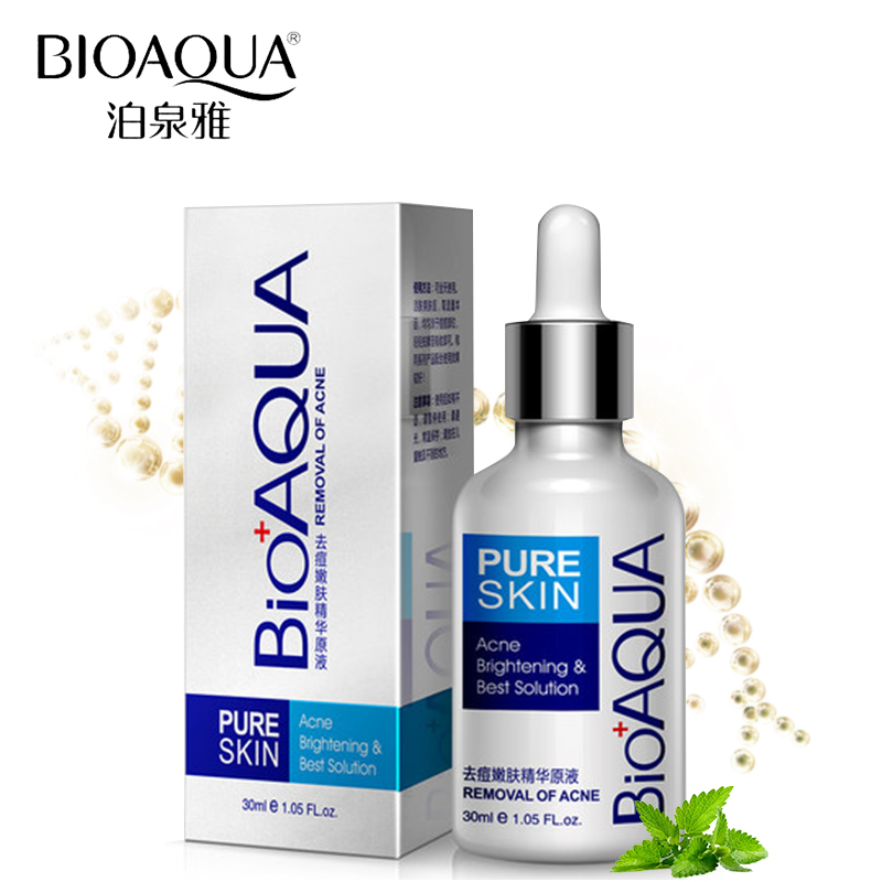 BIOAQUA Skin Care Acne Treatment Essence Acne Scar Remover Liquid Facial Whitening Moisturizing Brand Face Care Liquid 30ml