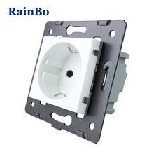 Rainbo бренд ЕС стены Мощность гнездо DIY ЕС Стандартный Мощность розетки без Стекло Панель разъем части функции AC 110~ 250 В 16A A8EW
