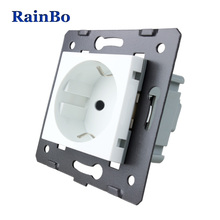 EU Wall Socket  Standard Power without Glass Panel socket function part AC 110~250V 16A for DIY Rainbo