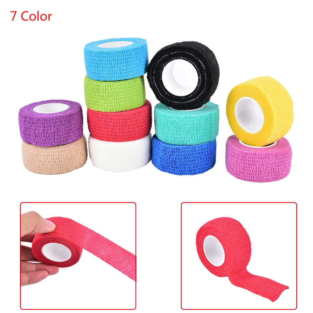 Self Adhering Stick Bandage Cotton blend elastic self adhesive adherent cohesive Wrap Finger Bandage tender Tape 1Roll