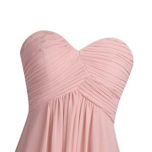 Image 5 - Tiaobug 2020 vestido de dama de honra, vestido formal de dama de honra rosa longo chiffon elegante vestido de festa de madrinha