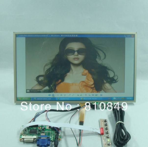 DVI+VGA Lcd Control board+15.6inch 1366*768 LP156WH2 N156B6 Lcd+Touch panel 8 4 8inch non touch industrial control lcd monitor display vga dvi interface metal shell fixed ear installation 4 3