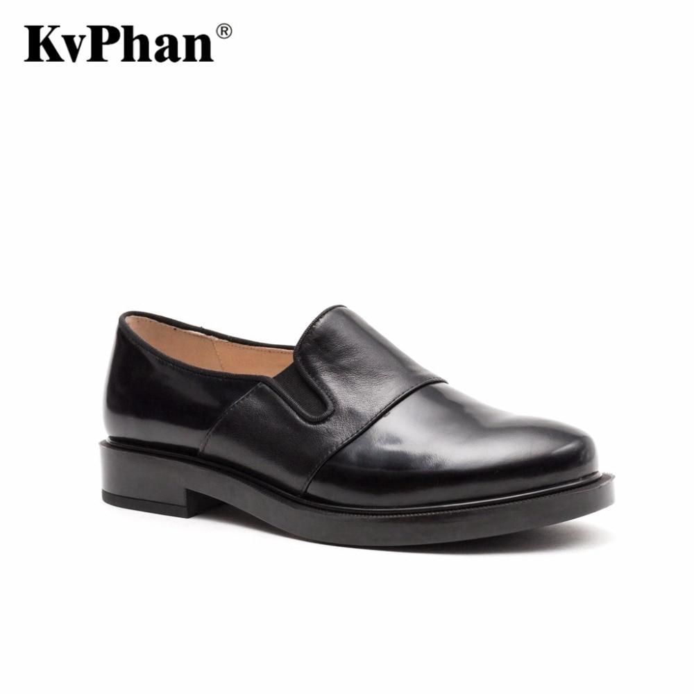 KvPhan Woman pumps Genuine patent leather Ankle pumps Fashion Lace Up Med heels font b shoes