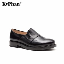KvPhan Woman pumps Genuine patent leather Ankle pumps Fashion Lace-Up Med heels shoes for woman Black Bordo Handmade women shoes