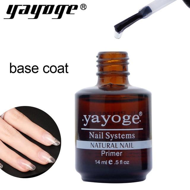 Yayoge 1pcs 14ml base coat primer Bonder gel nails polish art lacquer acrylics 0.5fl oz Base Varnish Manicure