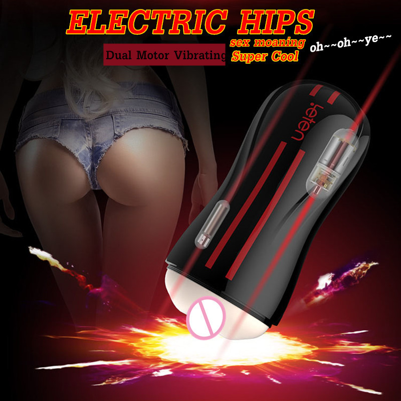 Leten Dual Motor Electric Hip Vibrator Intelligent Sexo Moaning Artificial Vagina Pocket Pussy Male Masturbator Sex Toys for Men implement artificial intelligent optimization techniques with matlab