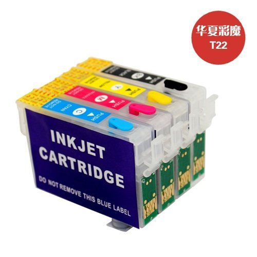 Refillable ink cartridges for Epson T22/T12/TX120/TX129/TX320F/TX325F T1331-T1334