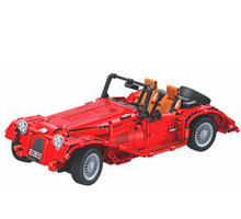 WEILE Technic City Vintage Car Building Blocks Sets Tegel Modell Kids Classic Leksaker Kompatibla Legoings MOC