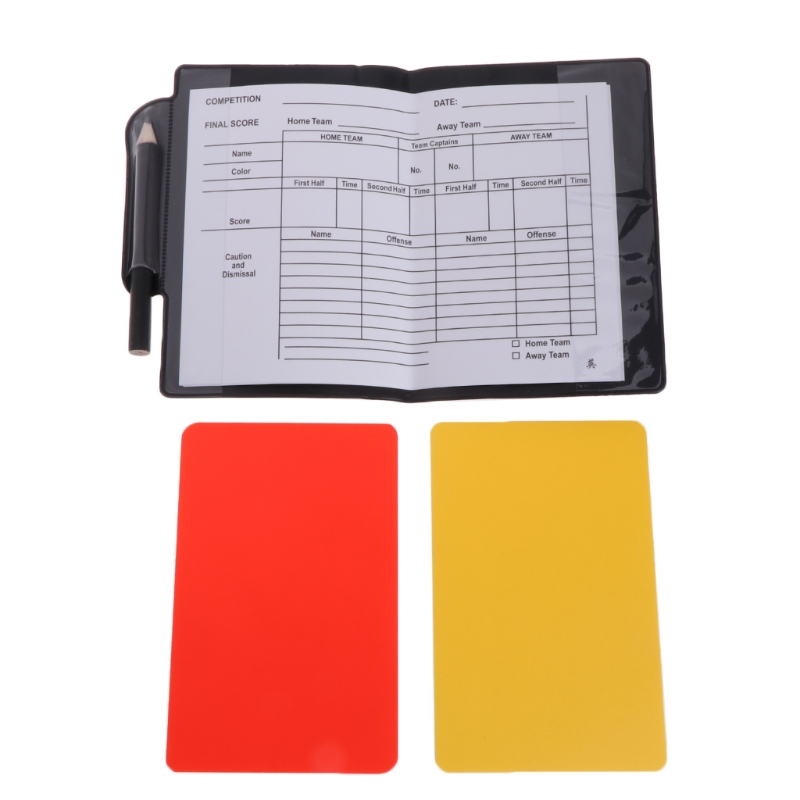 New Sport Football Soccer Referee Wallet Notebook With Red Card And Yellow Card  3