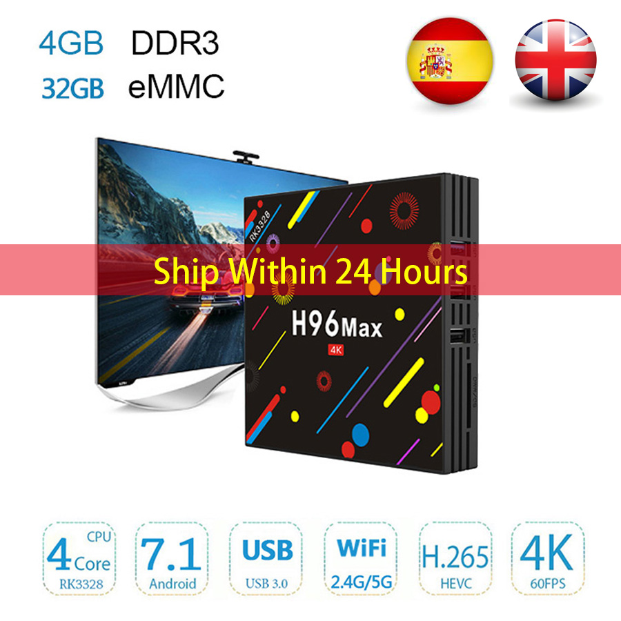 Original 4GB 32GB Android TV Box H96 Max H2 Android 7.1 RK3328 5G Dual-Band WiFi H.265 HD H96 Smart Set Top Box 4K Media Player pvt 898 5g 2 4g car wifi display dongle receiver airplay mirroring miracast dlna airsharing full hd 1080p hdmi tv sticks 3251