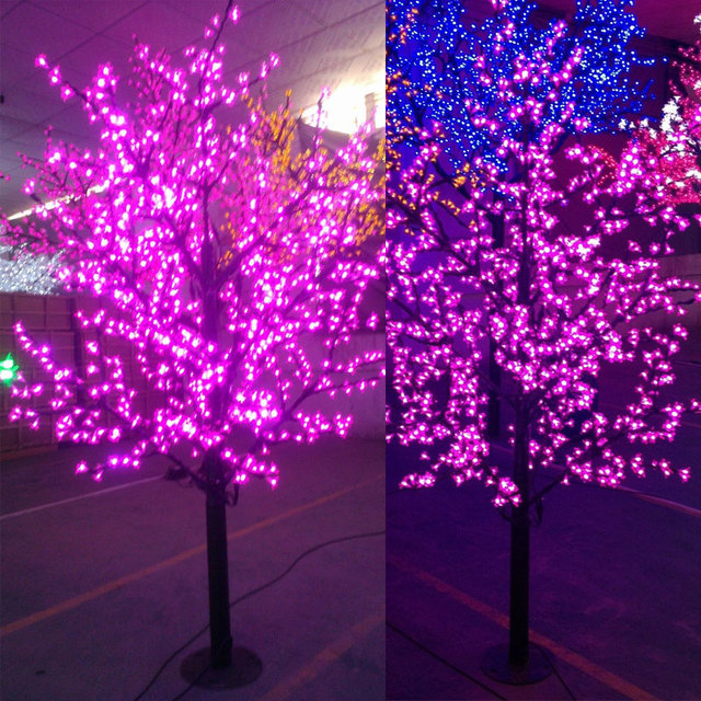 1.8Meters 1152LEDS purple/white/green/pink/blue holiday led cherry blossom light tree for Europe/North America