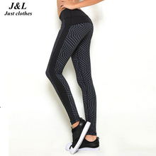 ФОТО women's sports leggings black print running women fitness legging slim jeggings wicking force exercise gym clothes ropa mujer